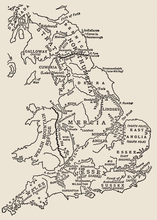 Anglo Saxon Map Of England.Anglo Saxon Versions Of Scripture