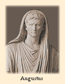The emperor Augustus portrayed as the Pontifex Maximus, with his toga pulled over his head