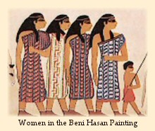 The Beni Hasan wall painting, from Egypt ca. 1890 B.C., shows a group of nomadic traders from Syria-Canaan visiting Egypt.