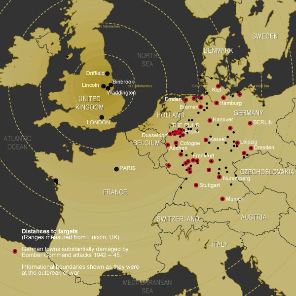 Major German Cities Destroyed by Bombing in the War