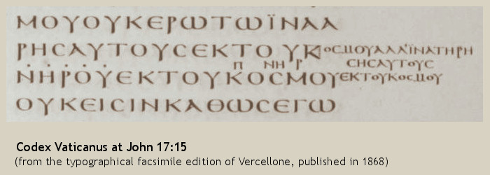 John 17:15 in codex Vaticanus