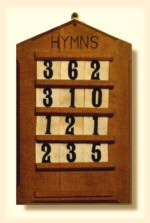 click on the hymnboard to hear a great old hymn!