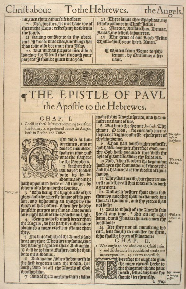 Sample Page of the King James Version, 1611
