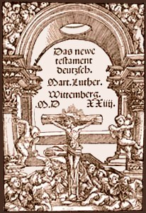 Title page of Luther's New Testament, 1524.