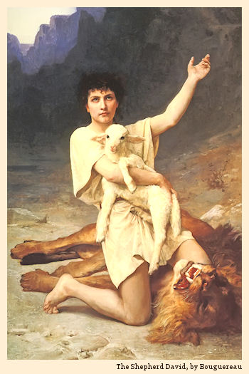 The Shepherd David, by Bouguereau