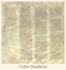 Codex Sinaiticus, end of Jeremiah and beginning of Lamentations