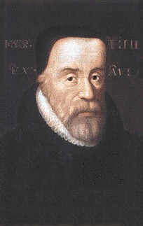 William Tyndale. Detail from the portrait at Hertford College, Oxford.